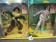 Lot Of 2 Vintage Barbie Dolls - Ken The Scarecrow And Tin Man Wizard Of Oz Figures
