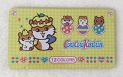 Sanrio Japan Vintage Corocorokuririn Colored Pencil Set Tin Box Kawaii Hamster