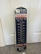 Vintage Advertising Natureand039s Remedy Porcelain Store Display Thermometer M-307