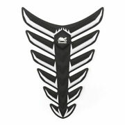 Fish Bone 3d Sticker Gas Oil Fuel Tank Pad Protector Decal Pour Yamaha Bmw Whi
