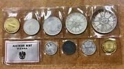 1966 Austria Proof 9 Coin Set Sealed 2 Silver Proof Coins Low Mintage Of 1765