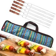 5pcs Bbq Barbecue Tool Set Roasting Forks With Bag Camping Hot Dog Skewers Gril