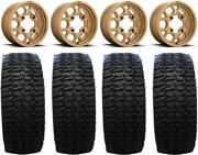 Kmc Mesa Lite 15 Wheels Bronze 35 Desert Race Tires Polaris Rzr Turbo S/rs1