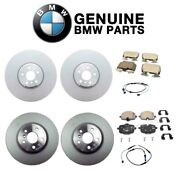 Genuine Front And Rear Brake Kit Disc Rotors Pads Sensors For Bmw G12 750i Xdrive