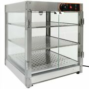 Stainless Steel Commercial Countertop Pizza Food Warmer Display Case