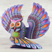 Owl Alebrije Masterpiece Oaxacan Wood Carving A2384 | Magia Mexica