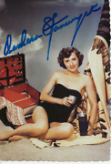 Barbara Stanwyck Signed Photo Postcard The Lady Eve Ball Of Fire Actor Model Coa
