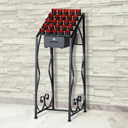 25 Votive Wrought Iron Candle Stand Crystal Votive Glasses Locking Offering Box