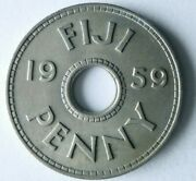 1959 Fiji Penny - Excellent Collectible Coin - Free Ship - Bin 130