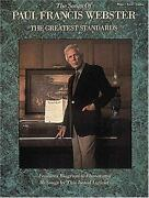 The Songs Of Paul Francis Webster The Greatest Standards Piano Vocal Guitar [