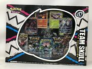 Pokemon Tcg Team Skull Pin Collection Box Incl Evolutions Pack- Unopened