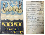 1948 Whoand039s Who In Baseball Jsa Vintage Signed Book Almost 200 Autos Al Simmons