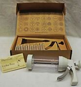 The Pampered Chef Cookie Press 1525 - 16 Discs Free Shipping New