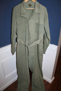 Rare Original Ww2 U.s. Army Air Force M42 1st Pattern Coveralls Named To Officer