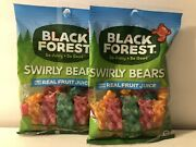 Lot Of 2 Black Forest Swirly Gummy Bears Candy 4 Oz Bag
