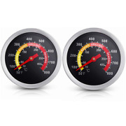2 Pack Bbq Grill Temperature Gauge 2 3/8 Inch Barbecue Charcoal Grill Smoker Te