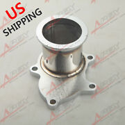 Us Ship T3 T3/t4 Turbo Downpipe Discharge 5bolt Flange To 3 Inch V Band Adaptor