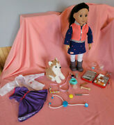Our Generation Doll Leslie With Pet And Accessories