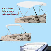Bimini Top Boat Cover Canvas Fabric White With Boot Fits 3bow 72l 46h 54-60w