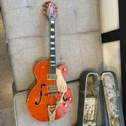 Gretsch Since1883 6120 Semi Hollow Orange Electric Guitar With Hard Case