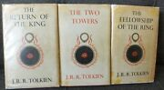 J.r.r. Tolkien - Lord Of The Rings - Uk 3 X Hc/djand039s Rare And Early Set 1959