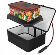 Portable Food Warmers Electric Heater Lunch Box Mini Oven 12v Car Power Black