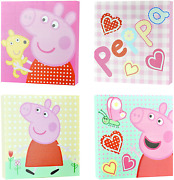 Peppa Pig Square Canvas Wall Art 4 Pack