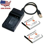 Battery / Usb Charger For Sony Dsc-wx5 C Dsc-wx7 Dsc-wx9 Dsc-wx30 Dsc-wx50 New