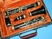 Evette Schaeffer Bb Wood Clarinet Made In France And Lesson Method And Song Books