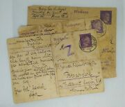 Lot Of 3 Postcards From The Holocaust Jewish Family Camps Ww2 Rare 1940s
