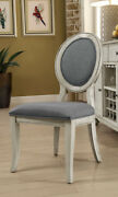 Modern Kathryn Set Of 2pc Side Chairs Antique White Solid Wood Dining Furniture