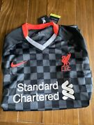New With Tags Nike Liverpool L.f.c. Standard Chartered Soccer Jersey Mens Xl
