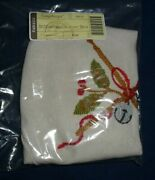 Longaberger 2012 Christmas Collection Drum Basket Fabric Liner - Flax 24212 New