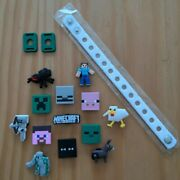 13 Minecraft Themed Usa Jibbitz Pvc Shoe/bracelet Charms Party Favors Stocking