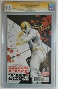 Iron Fist The Living Weapon 2 Variant Cgc 9.6 Signed By J.g Jones Kaare Andrews