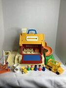 Vintage Fisher Price Little People School With Playground 2550 Complete Bus