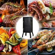 Vertical 2-tier Outdoor Barbeque Grill With Temperature Gauge 17 X 18.5 X 40