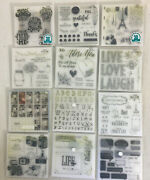 Lot Of 12 Close To My Heart Cling Stamp Sets Plus 50 Cards Large Variety New