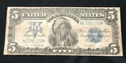 1899 5 Dollar Indian Chief Silver Certificate