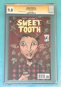 Sweet Tooth 1 Cgc 9.8 Ss - Signed And Sketch/remarque/remark Jeff Lemire -netflix