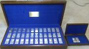 Danbury Mint Presidential Sterling Silver Ingots First Edition Walnut Cases Orig