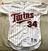 Kirby Puckett Minnesota Twins 1990s Authentic Russell Athletic White Game Jersey