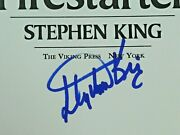 Rare Stephen King Author Signed Fire Starter Book