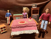 Fisher Price Loving Family Sweet Sounds Pizza Birthday Table Kitchen Dolls More