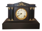 Antique 19th Ansonia Architectural Mantel Clock Working Victorian Classical 1882