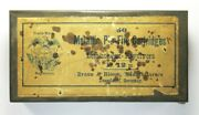 Empty Tin For 50 12mm Lefaucheux Pinfire Cartridges By Braun And Bloem Of Germany