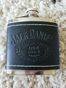 Jack Daniels Old No 7 Stainless And Leather Hip Flask 2009 5oz