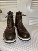 New Mike Konos Men's Size 11.5 Brown Caffe Boots Italian