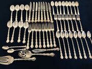 Reed And Barton Tara Sterling Silver Set For 8, 52 Pcs Total