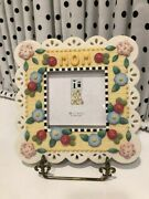 Mary Engelbreit For Michel Resin Floral Picture Frame 7 X 7 2001 Excellent